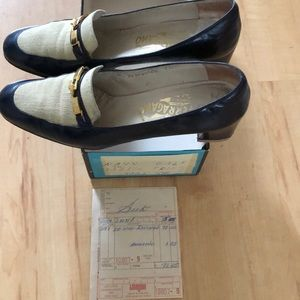 Vintage 1977 Ferragamo w/ box & original receipt